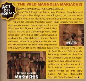 The Wild Magnolia Mariachis - Act des Monats bei Gitarre und Bass